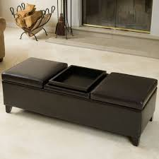 Tray For Coffee Table Ottoman Breathtaking 4 Tray Top Black Leather Storage Ottoman