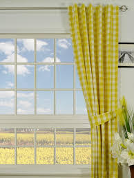 moonbay small plaids back tab cotton curtains