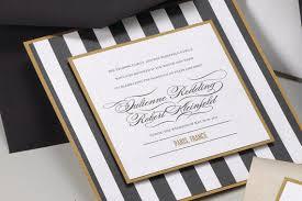 black and white striped wedding invitations items similar to stripe black white and gold wedding invitation on