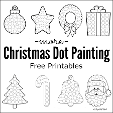 more christmas dot painting free printables the resourceful mama