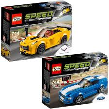 lego ford lego speed champions 2pcs set 75870 75871 chevrolet corvette z06