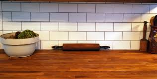 kitchen subway tile wood countertop terrific metro subway matte