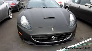 Ferrari California Black - matte black ferrari california covering peinture noir mat youtube