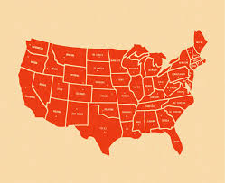 Map Of The 50 States U S States By Area