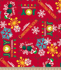 red christmas vacation print holiday fabric 43 u0027 u0027 by national