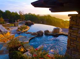 Mountain Lake Pool Design by Swimming Pool Specialty Features Hgtv