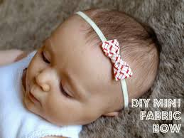baby bow headbands this miggy stayed home diy mini fabric bows