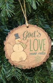 god s never melts wood slice ornament from family