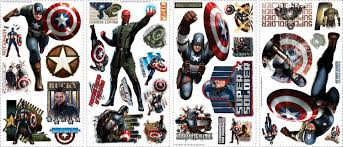 captain america the first avenger wall decals sticker shop