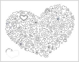 valentine coloring page coloring page