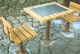 Good Wood For Outdoor Furniture by China Good Material Solid Wood Outdoor Furniture Chess Table And