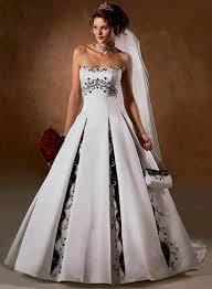 Black And White Wedding Dress White Wedding Dress With Purple Naf Dresses