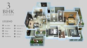 apartment best 3 bhk apartment style home design wonderful with