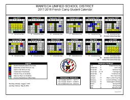 calendars manteca unified school district ca