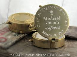 confirmation gifts for engraved compass confirmation gift confirmation gift boy baptism