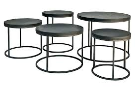 side table black outdoor side table bay metal accent small