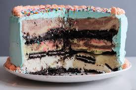 3 layer ice cream birthday cake u2014 cream honey