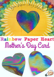 s day card rainbow paper heart s day card kid made gifts