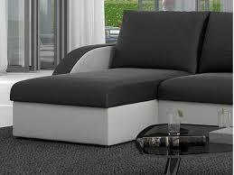 canapé d angle 3 places convertible canapé d angle convertible simili noir blanc corneille