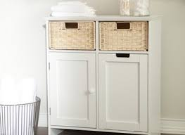 Laundry Sorter Cabinet In This Space Open Slats Cabinet Laundry Hamper Reviews Wayfair