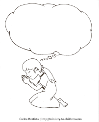children praying coloring page at child eson me