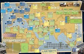 World War 2 Map Activity by Gmt Games Labyrinth 3rd Printing