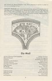 ann arbor civic theatre program camelot april 28 1982 ann