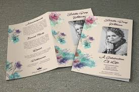 Making A Funeral Program Memorial Brochure Template Funeral Program Template 5 Back And
