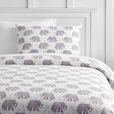 winter elephant flannel duvet cover sham pbteen