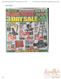 home depot black friday pdf harbor freight black friday ad hours u0026 deals living rich with
