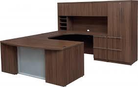 U Shaped Home Office Desk Furniture Fascinating Office Desk With Hutch For Office Furniture