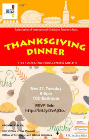 association of international graduate students thanksgiving dinner