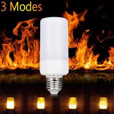 why led light bulbs flicker e27 smd2835 led flicker flame light bulb 5w ac 85 265v
