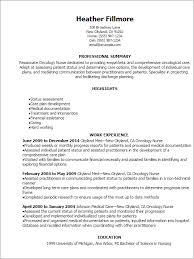 Examples Of Registered Nurse Resumes by Download Oncology Nurse Resume Haadyaooverbayresort Com