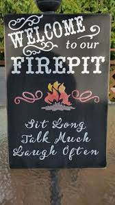 Fire Pit Signs by Welcome To Our Firepit Personalized Firepit Sign Campfire Sign