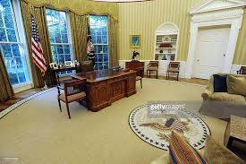 Trump Oval Office Decoration The Newly Redecorated Oval Office Of The Pictures Getty Images