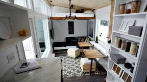 tiny house open concept rustic modern storage integrated elevator
