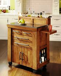 portable kitchen island with storage and seating types of wood