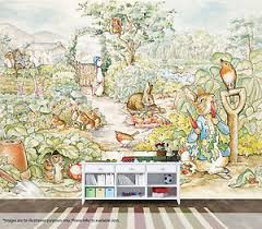 beatrix potter rabbit nursery beatrix potter rabbit wall mural quality pastable wallpaper