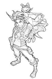 jak and daxter coloring pages glum me