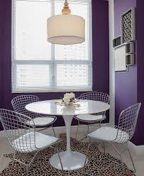 potentially purple dining room contemporary with wood china cabinet