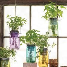Diy Self Watering Herb Garden Self Watering Mason Jar Indoor Herb Garden Fresh Herbs Herbs