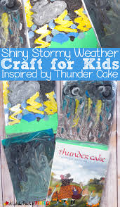 stormy weather art for kids inspired by thunder cake