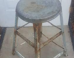 vintage metal stool etsy