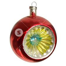 bauble for tree decoration isolated transparent