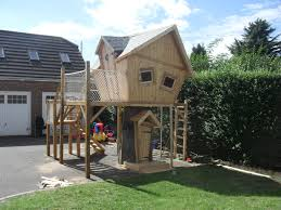 Real Treehouse Tree House Platform Play Enchanted Creations Playhouses U0026 Treehouses