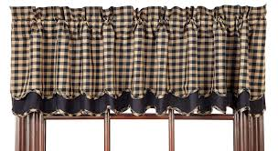 bj u0027s country charm black check scallop shower curtain primitive