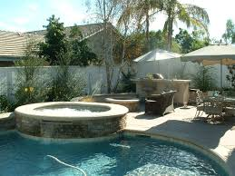 The Firepit Raised Spa And Seatwall Next To The Firepit And Bbq Area Brings