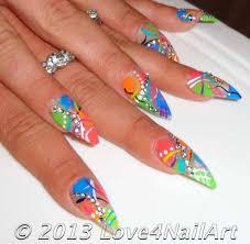 love4nailart abstract stiletto nail art design idea 2