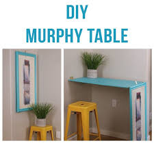 How To Make A Fold Down Workbench How Tos Diy by Short On Space This Diy Turns Wall Art Into A Table Murphy